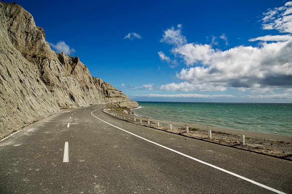 Route dans la baie de Palliser