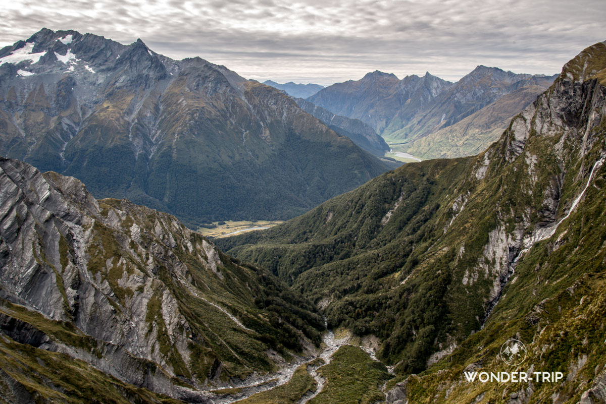 Randonnée Cascade saddle - Aspiring national park- Cascade saddle
