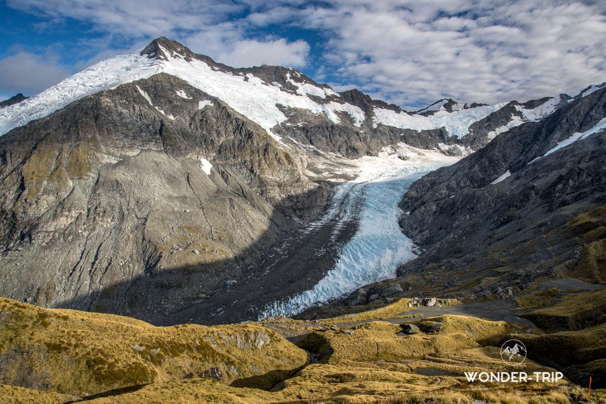 Randonnée Cascade saddle - Aspiring national park - Glacier Dart
