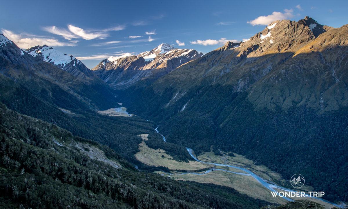 Aspiring national park - Panorama depuis mount Pilon