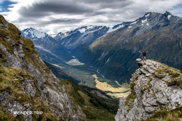 Randonnée Cascade saddle - Aspiring national park - Panorama depuis mount Pilon