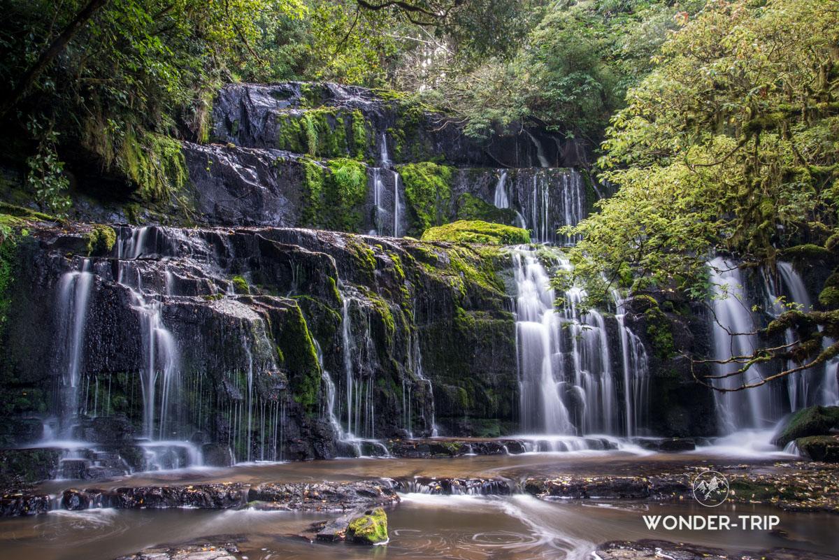 Coastal rainforest Park - Purakaunui falls