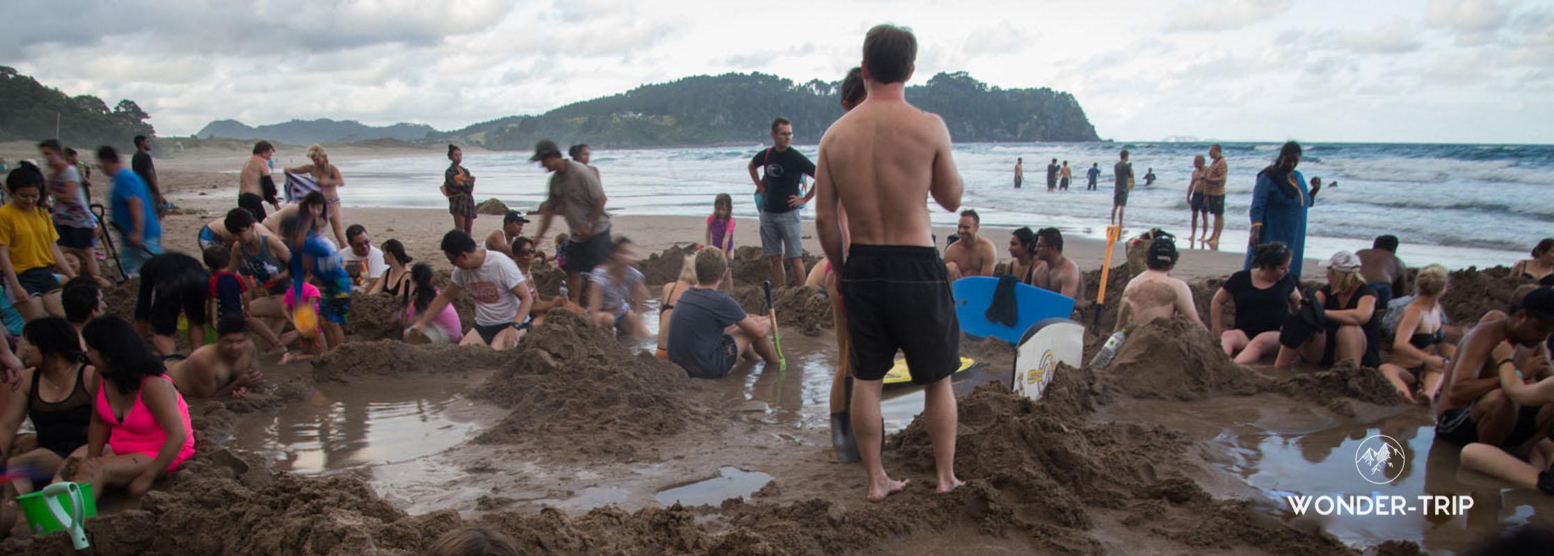 Hot water beach au Coromandel