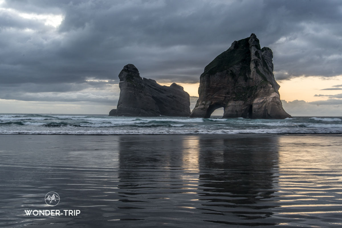 Wharariki beach dans la Golden bay