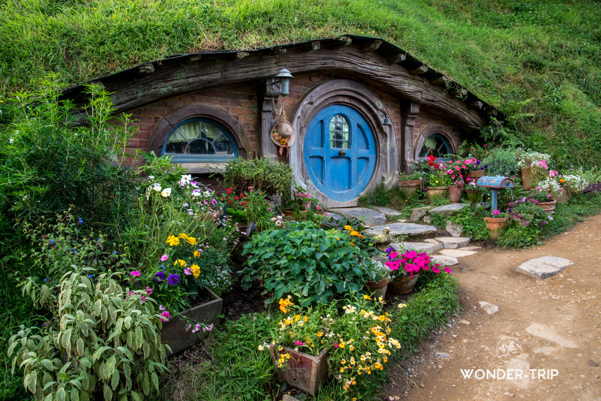 Hobbiton Village hobbits - Maison de hobbit