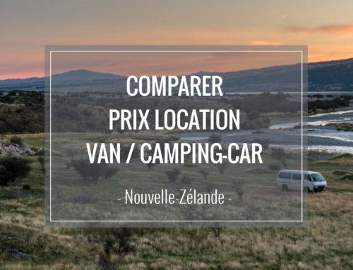 Comparer les prix de location d'un camping-car / van en Nouvelle Zélande
