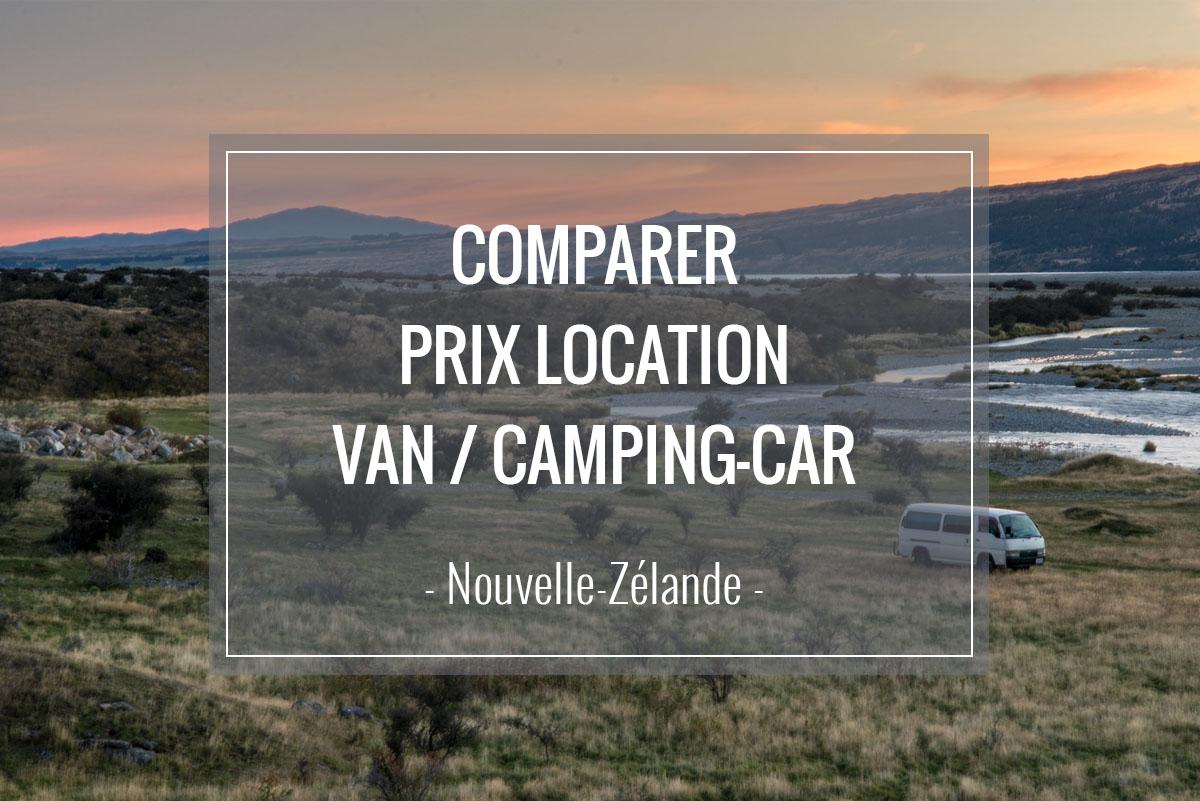 Comparer prix et compagnies location van camping-car nouvelle-zélande