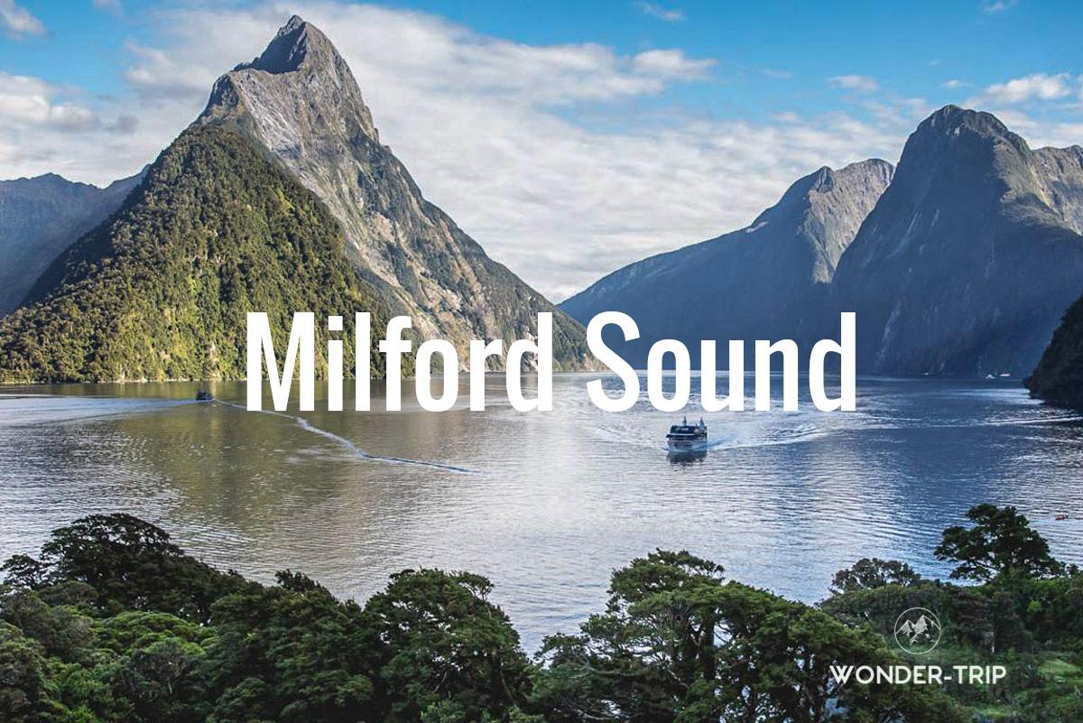 Destination populaire Nouvelle-Zélande - Milford sound