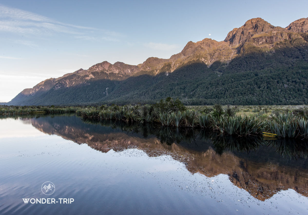 Fiordland national park - Lac Mirror
