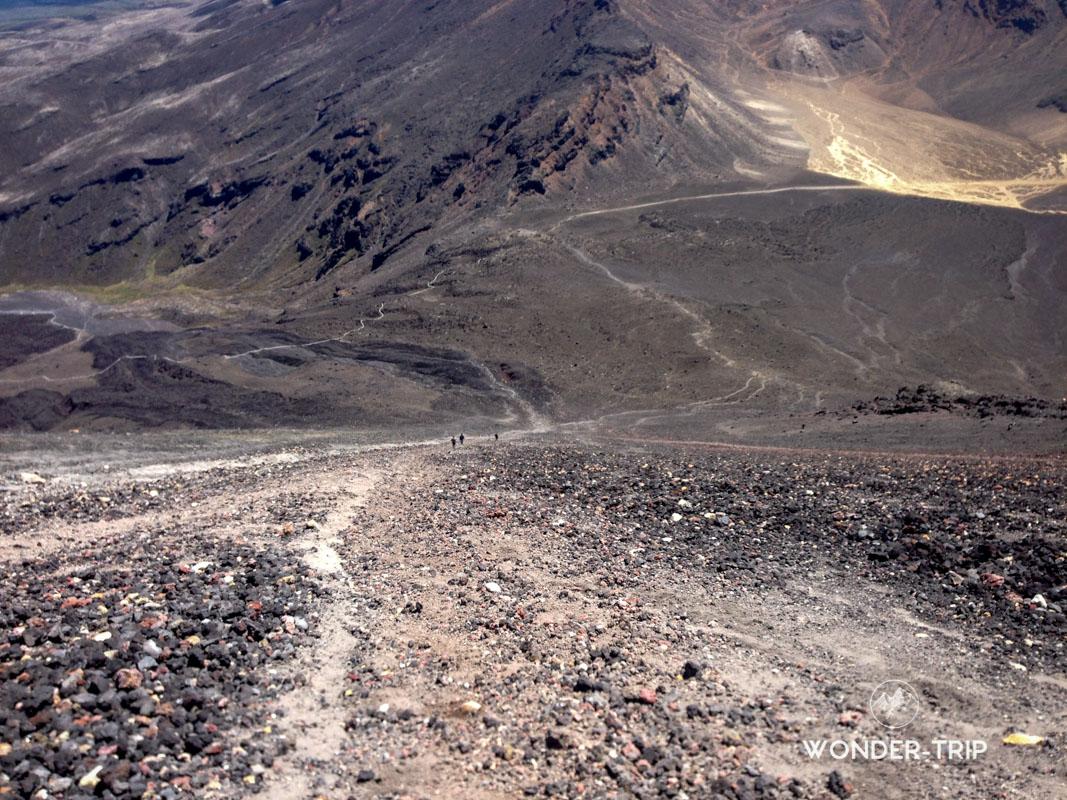 Descente du mont Ngauruhoe