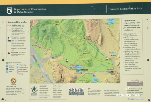 Hakatere Conservation Area map