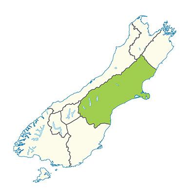 Carte de la région du Canterbury - Quand partir ?