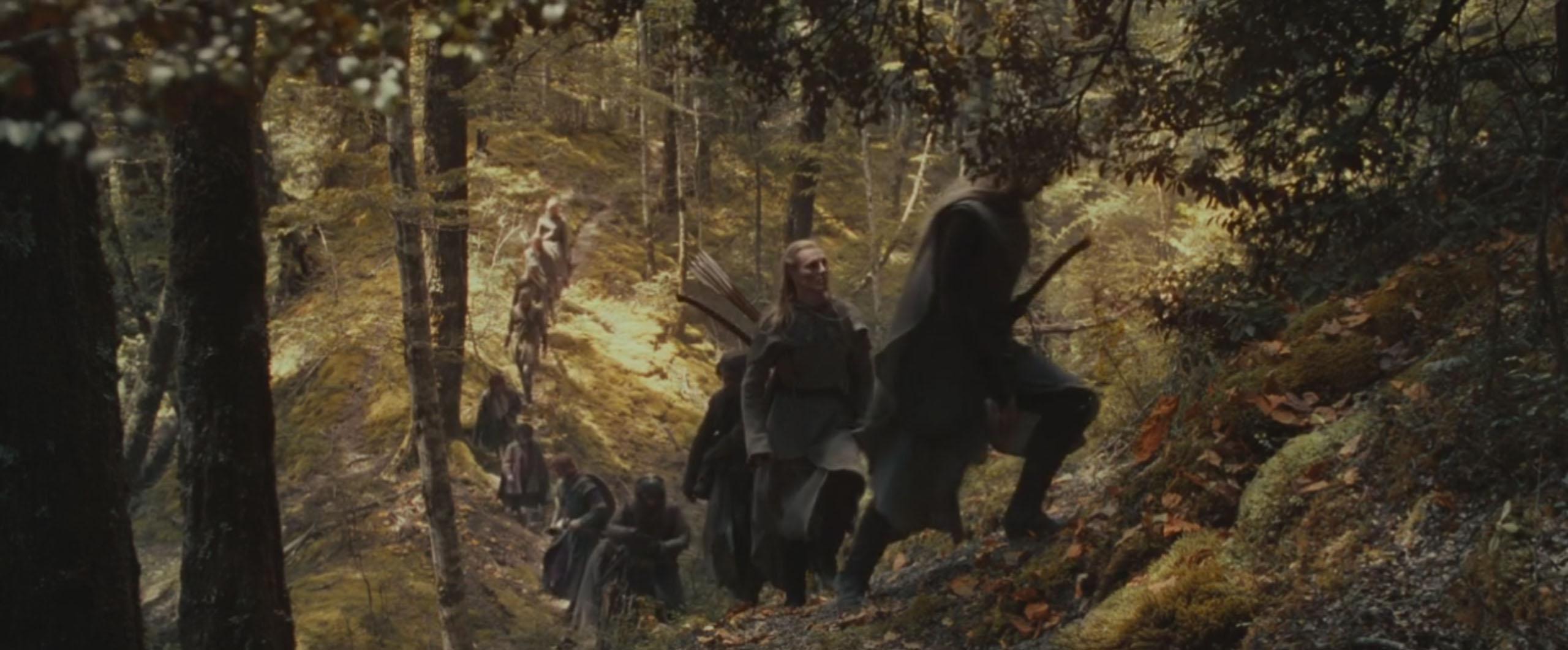 La communauté de l'anneau - Forêt Lothlórien