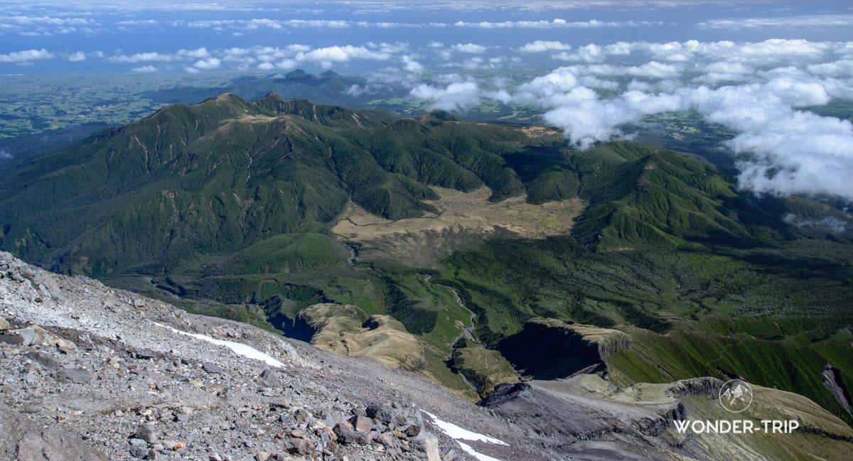 Panorama lors ascension du mot Taranaki