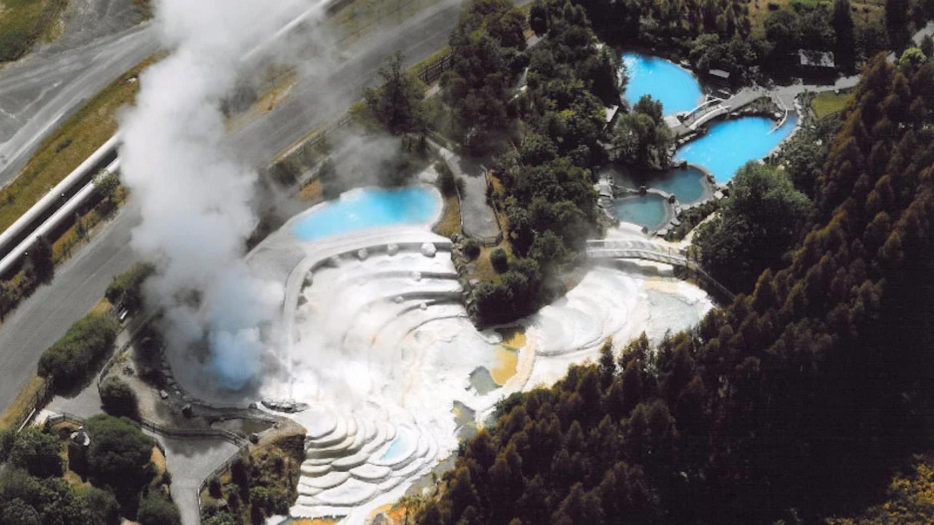 Vue aérienne des Wairakei Terraces
