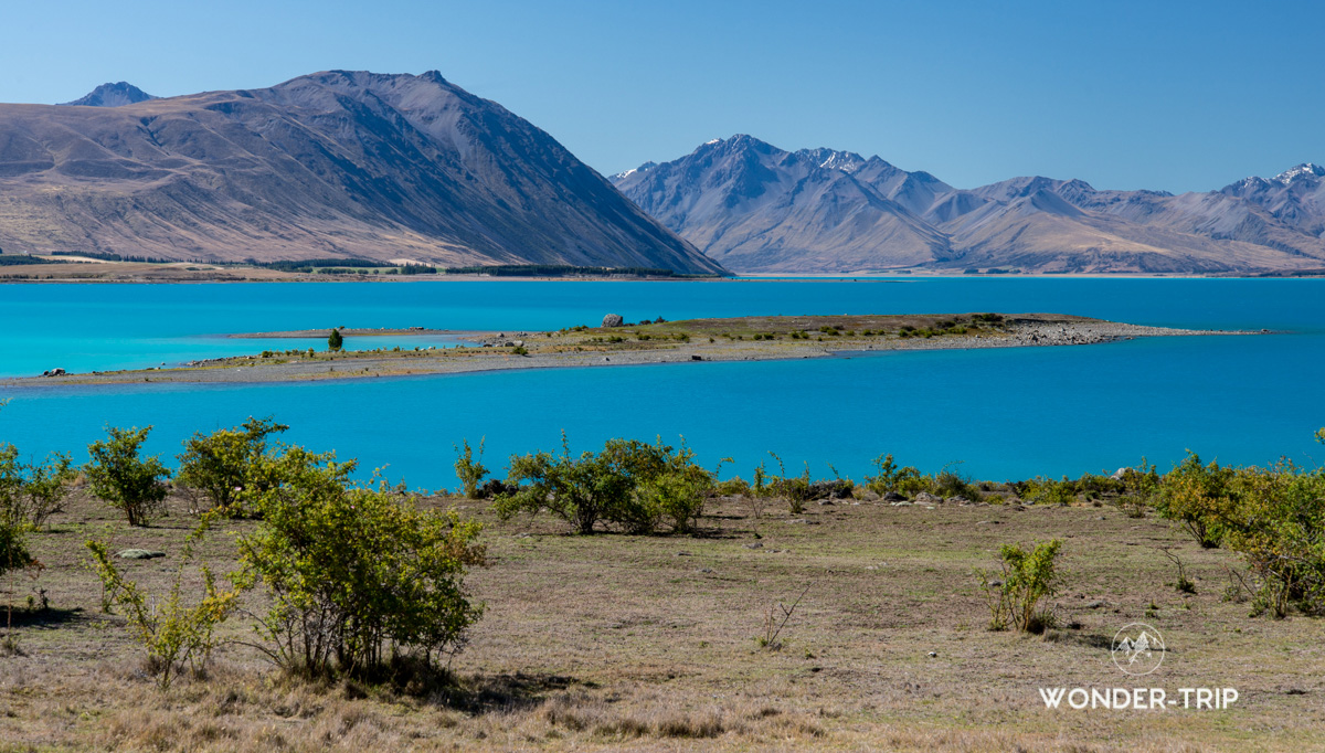 Lac Tekapo - Randonnée de Peninsula Walkway