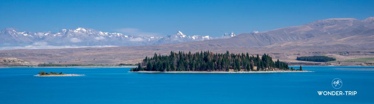 Lac Tekapo depuis rive Est