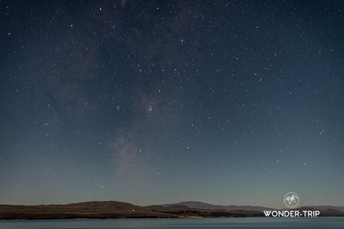 Ciel étoilé du lac Tekapo