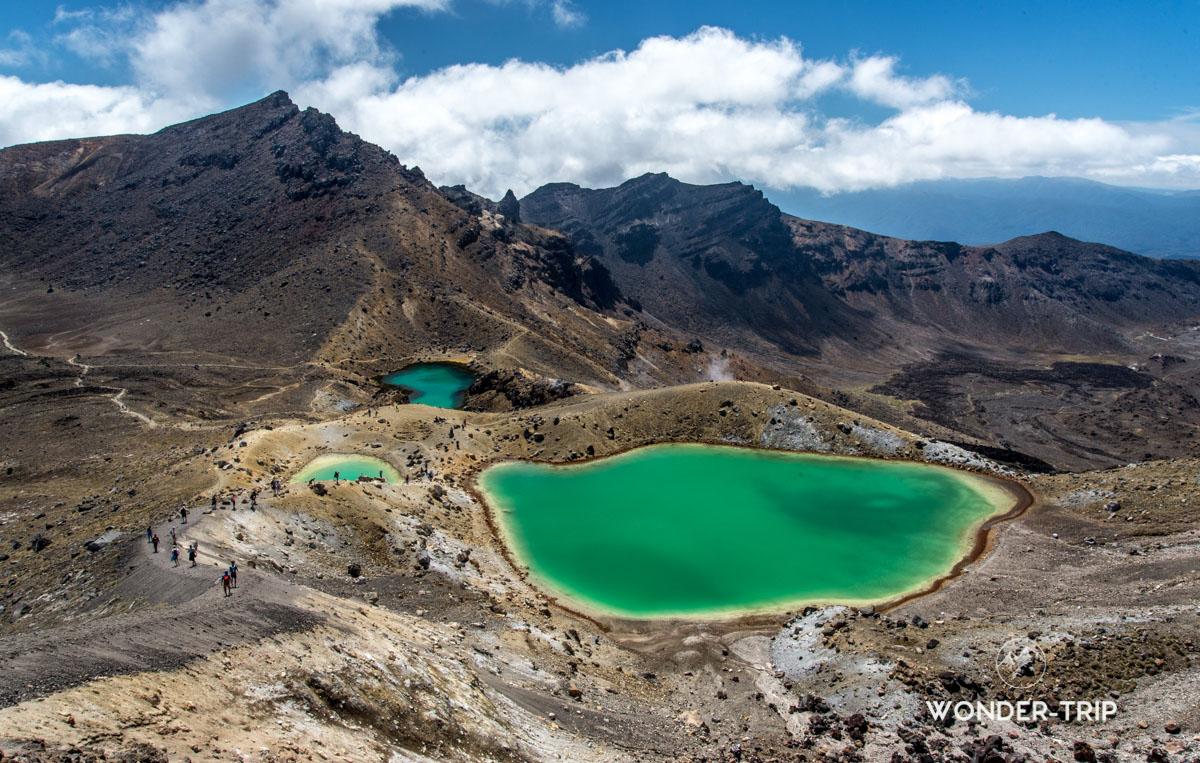 Emeraud lakes - Tongariro Northern circuit