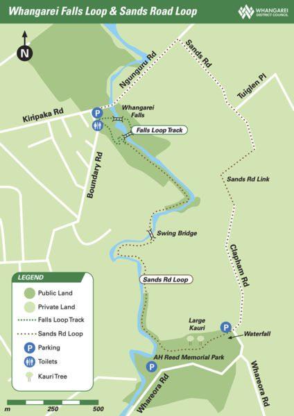 Carte des Whangarei falls